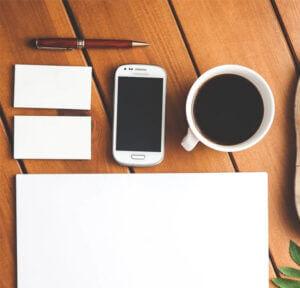Koffie en tablet
