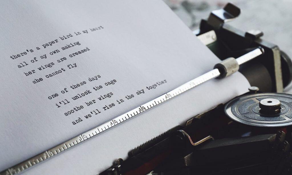 Gedicht typmachine